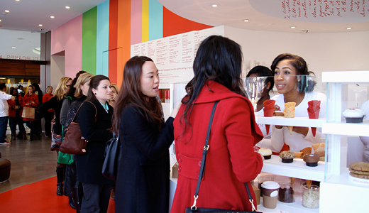 customers trying Ice Cream at Sprinkles Atlanta