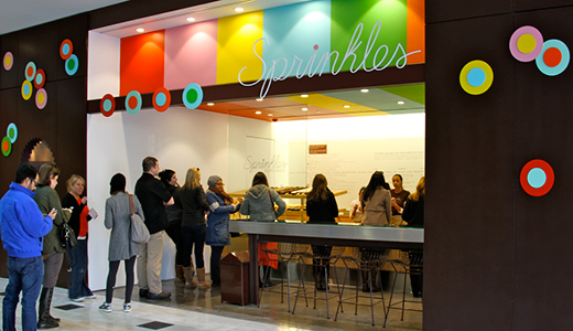 customers in line for Sprinkles Atlanta