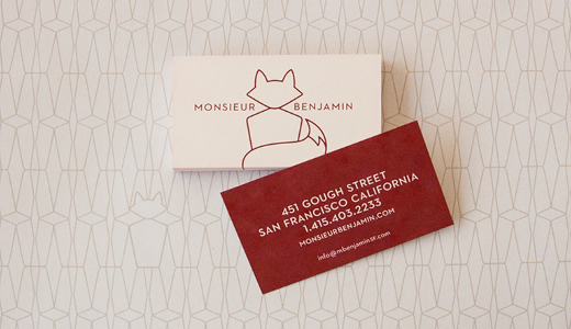 Monsieur Benjamin business cards